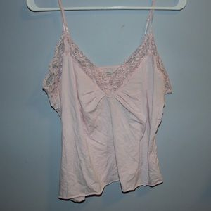 Pink Lace Cami Tank Top